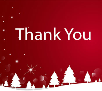 Thank You - Christmas Background